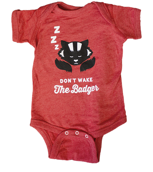 badger_onesie_front_red_grande