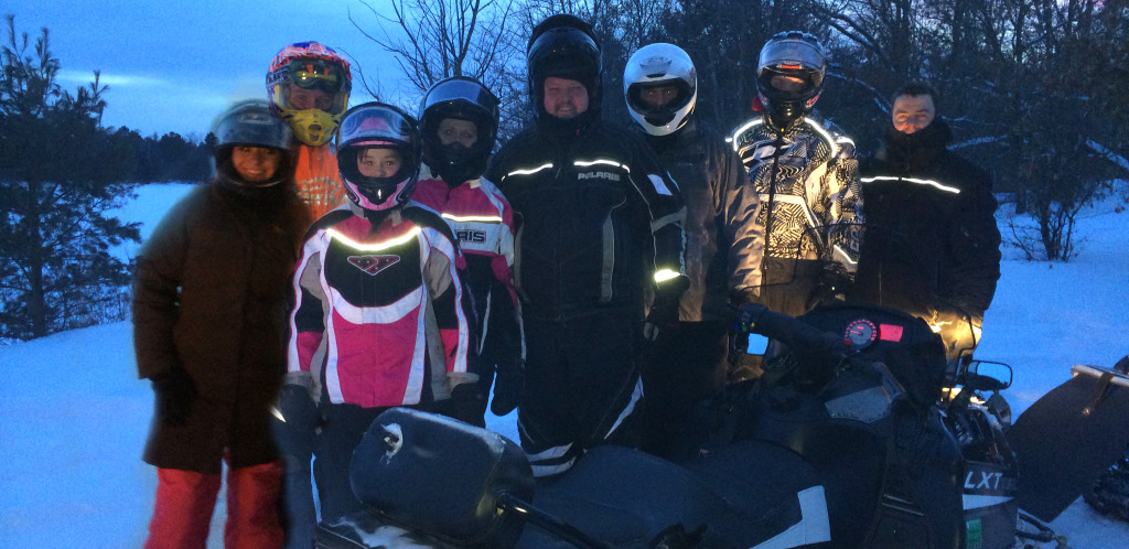 The DW Crew takes to a chilly evening ride in St. Germain. (Mariah, Dylan, Haley, Lisa, Mark, Hunter)