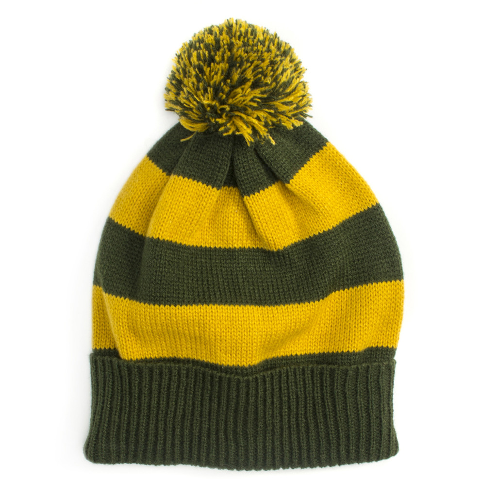 Green + Gold Game Day Beanie