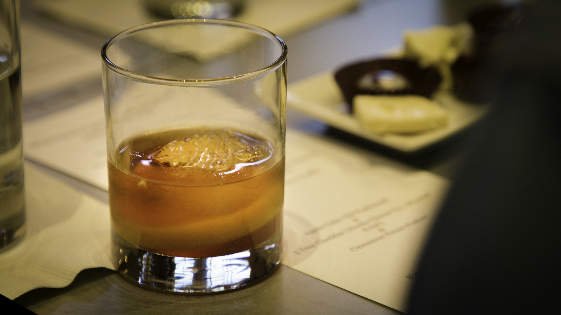 Old Fashioned on table