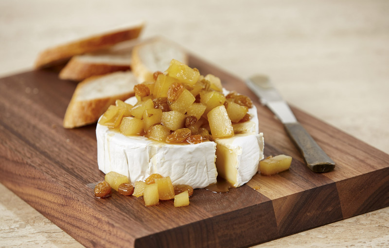 Seasonal Fruit + Wisconsin Brie