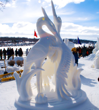 Witness the talents of snow sculpting artists from around the world at the U.S. National Snow Sculpting Competition. (Feb. 3-7)