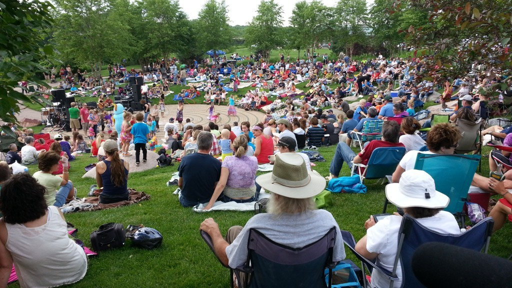 Volume One's Sounds Like Summer Concert Series takes place every Thursday at Phoenix Park in downtown Eau Claire. Local bands play to crowds of more than 1,000 along the Chippewa River.