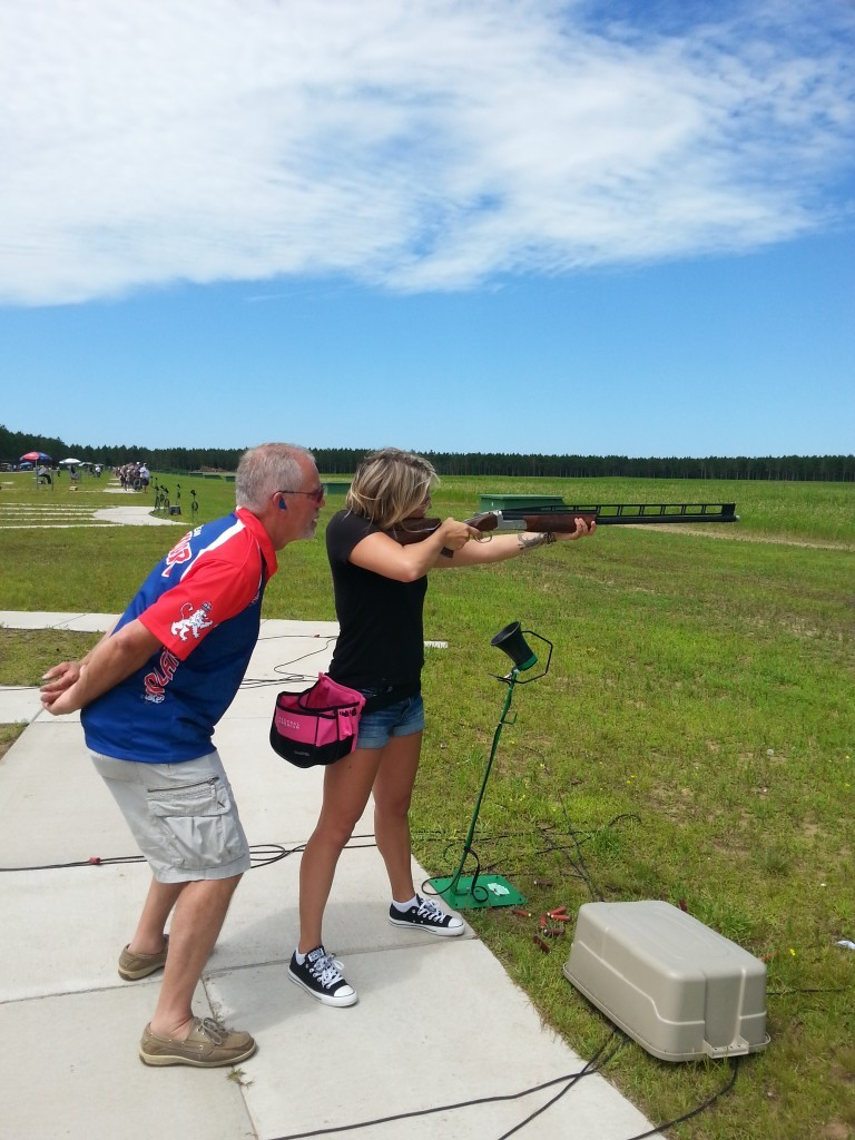 Cohost Abbey Maillette tests her trapshooting skills in Wood County