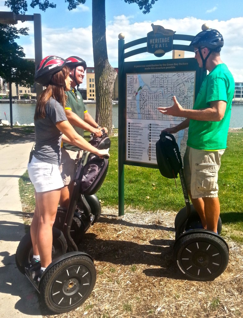Discover Wisconsin hosts Mariah Haberman and Jake Zimmerman take a guided Segway tour on the Packers Heritage Trail