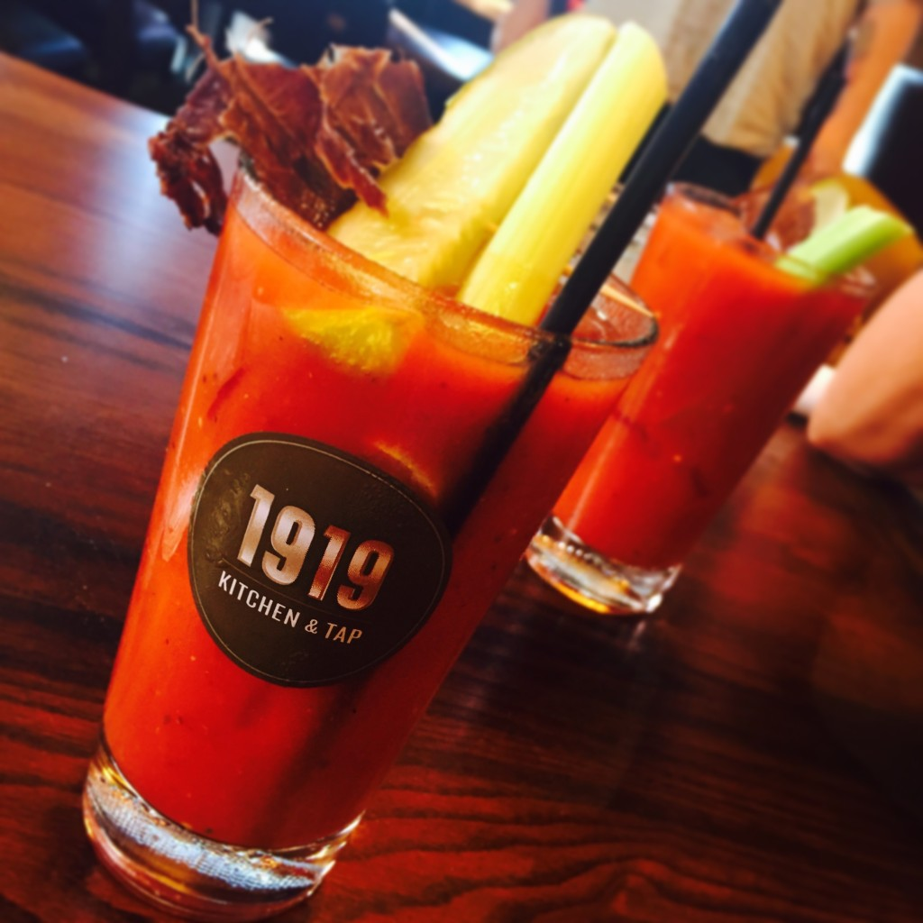 Enjoy a delicious bloody mary at 1919 Kitchen and Tap at Lambeau Field