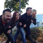 The #DWcrew has a little fun on the Geneva Lake Shorepath while filming for Discover Wisconsin.