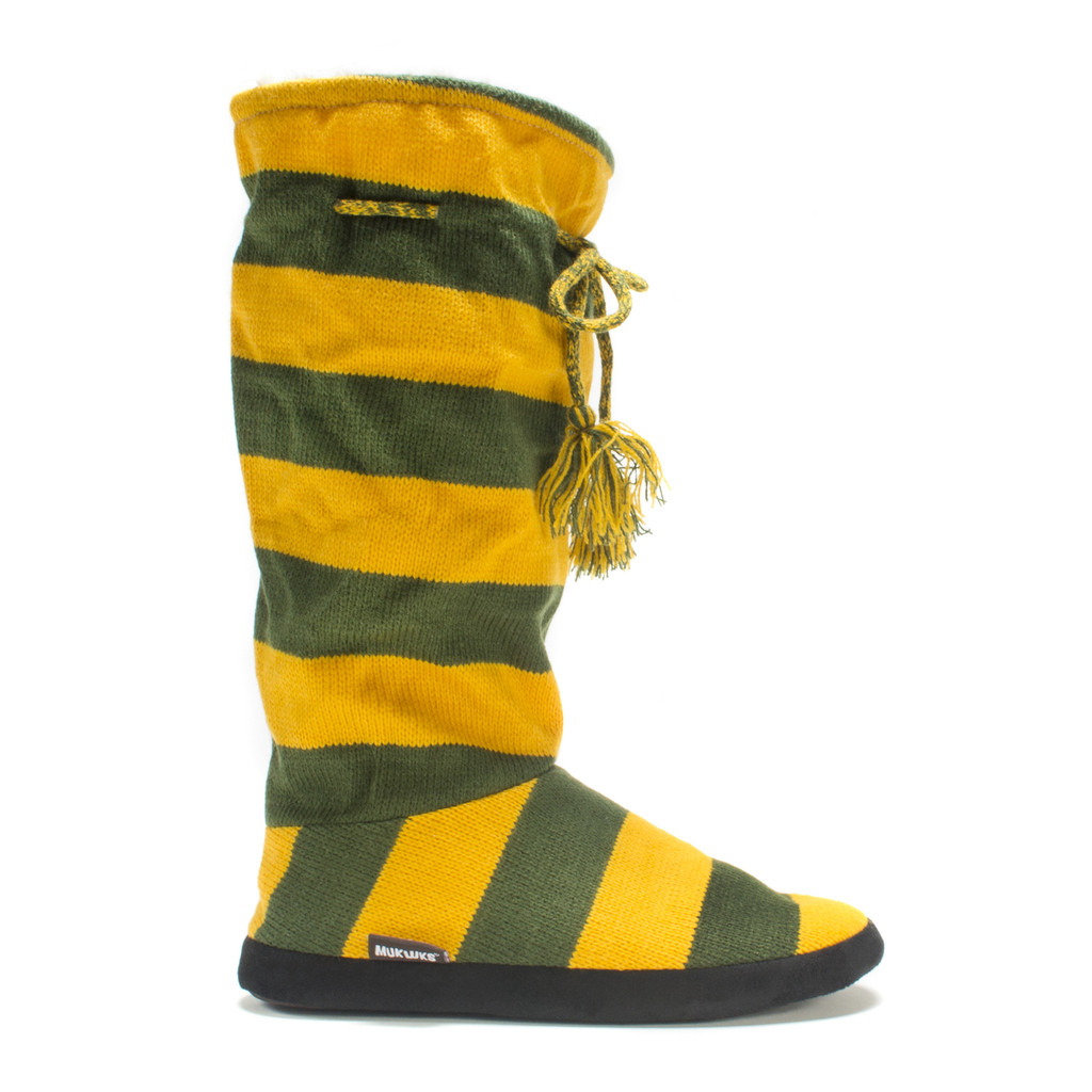 Green + Gold Game Day Slippers by MukLuks