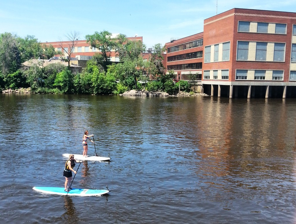 Host Mariah Haberman takes a standup paddleboard history tour with SUP the Rapids in Wisconsin Rapids