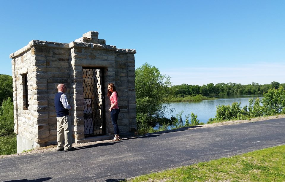 I took a walking history tour with Portage Mayor Bill Tierney