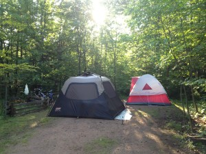 Camping with the family at Copper Falls State Park
