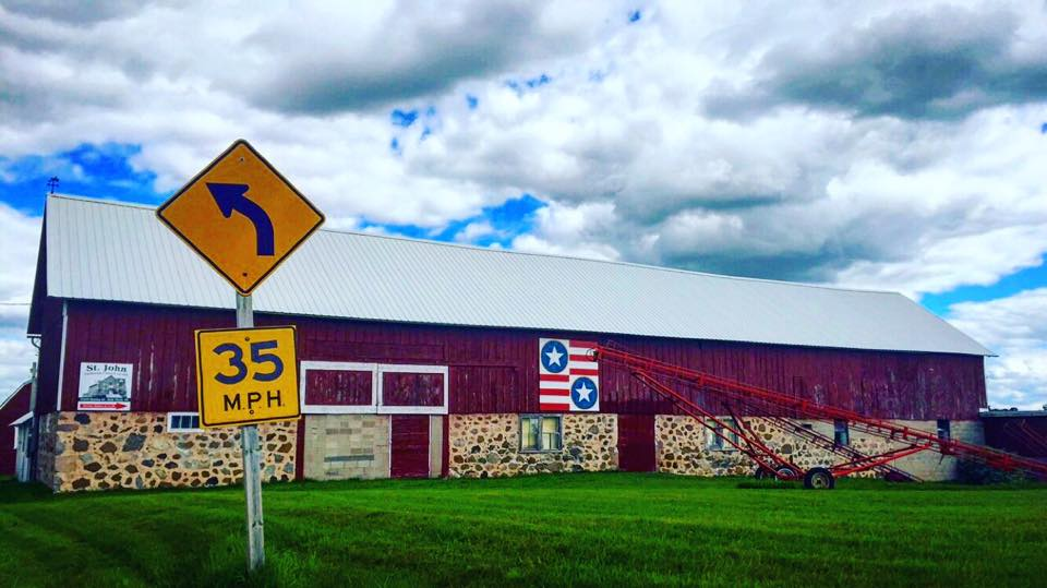 I snapped this pic while on by barn quilt bike tour near Belle Plaine in Shawano County.