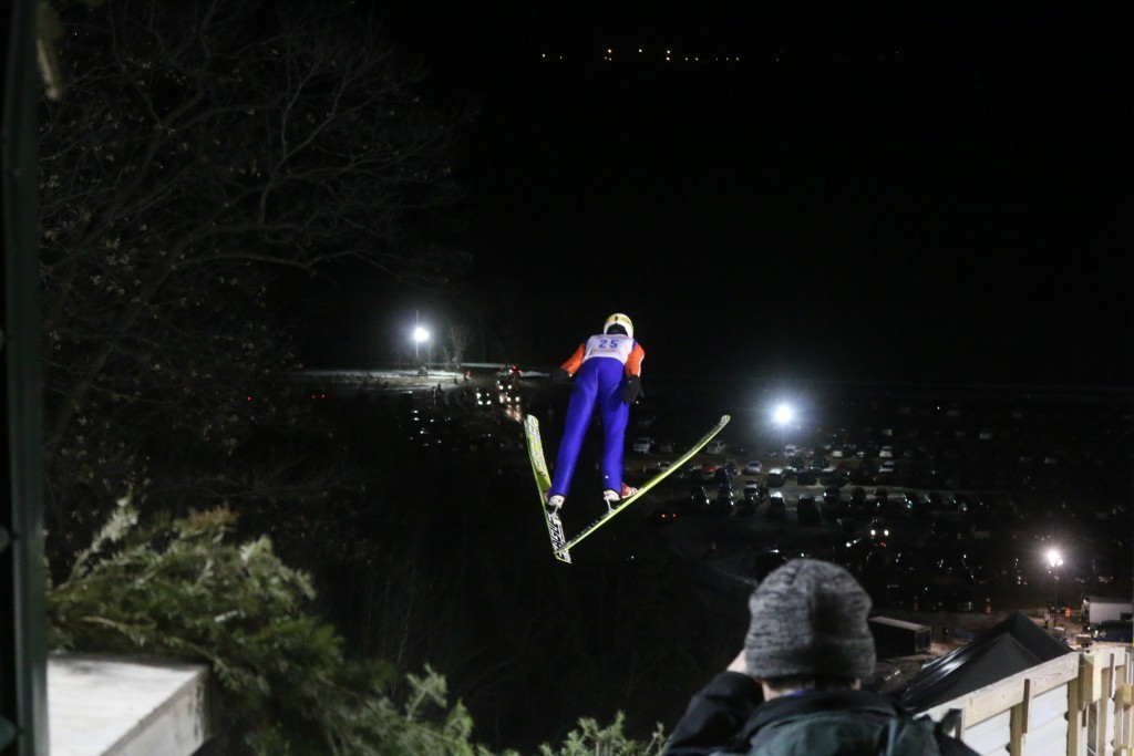 The intense sport of ski jumping is highlighted in Eau Claire every year when the city hosts the Silver Mine Ski Invitational.