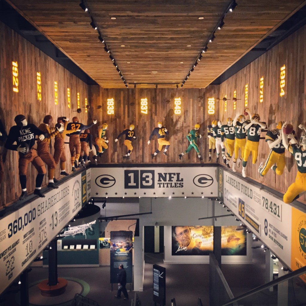 The Packers Hall of Fame opened in 2015 and is located in the Lambeau Field Atrium