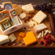 Cheese platter at WI cheese mart