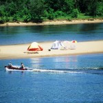 Camping is allowed (and encouraged!) on sandbars on the Lower Wisconsin State Riverway. Photo courtesy of Wisconsin Department of Natural Resources