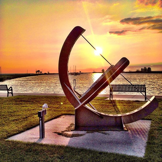 Take Highway 22 to Oconto County and catch a sunrise at the Breakwater Park. [Photo by AJ Marz]